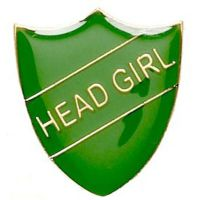 ShieldBadge Head Girl Green</br>SB018G